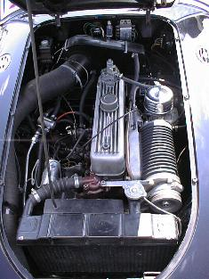 1956 MGA sliding vane supercharged engine